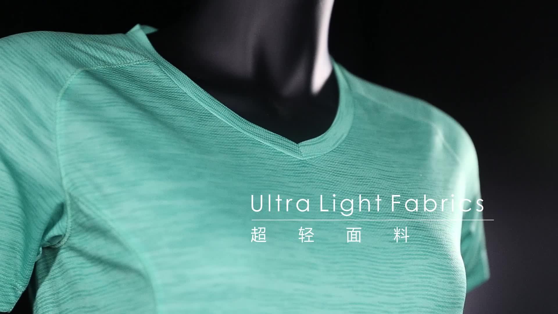 2018 Women T Shirt Quick-drying Fitness Clothes Running Gym Yoga Shirts