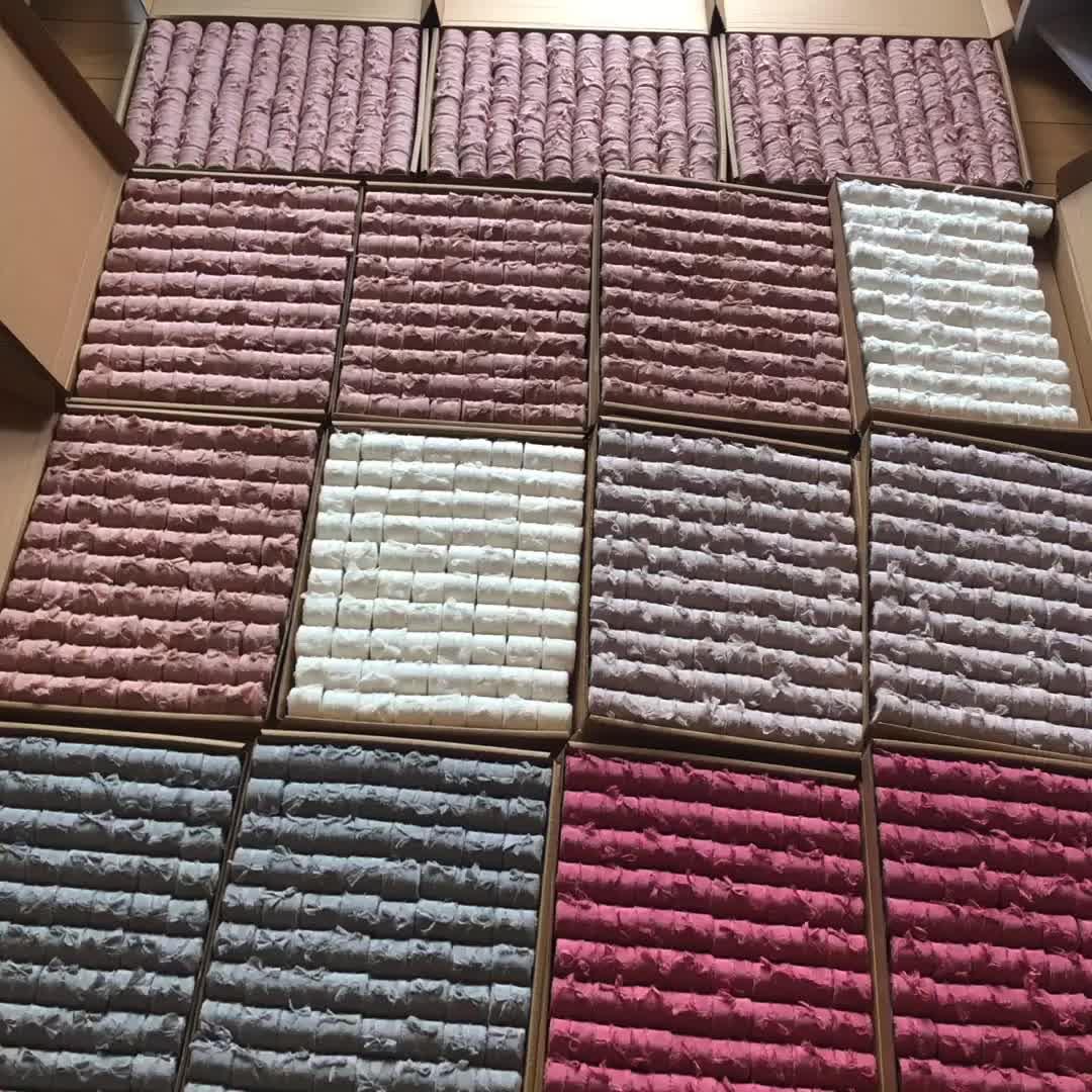 1-2 inç 25mm 100% ipek kurdele kaba kenar hediye paketleme için weddingbridal buket dekorasyon fabrika doğrudan özelleştirilmiş renk boyutu