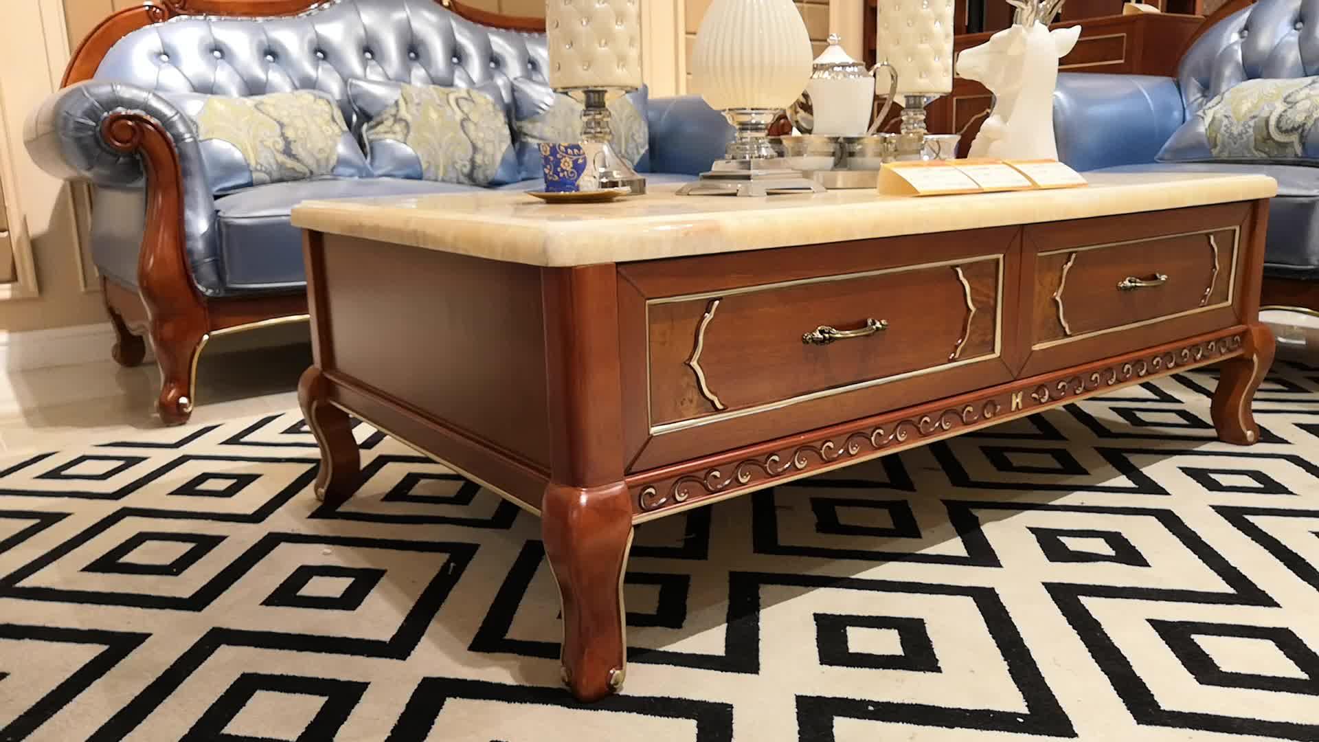 Walnut Marble Top Wood Center Table Design Tea Table Buy