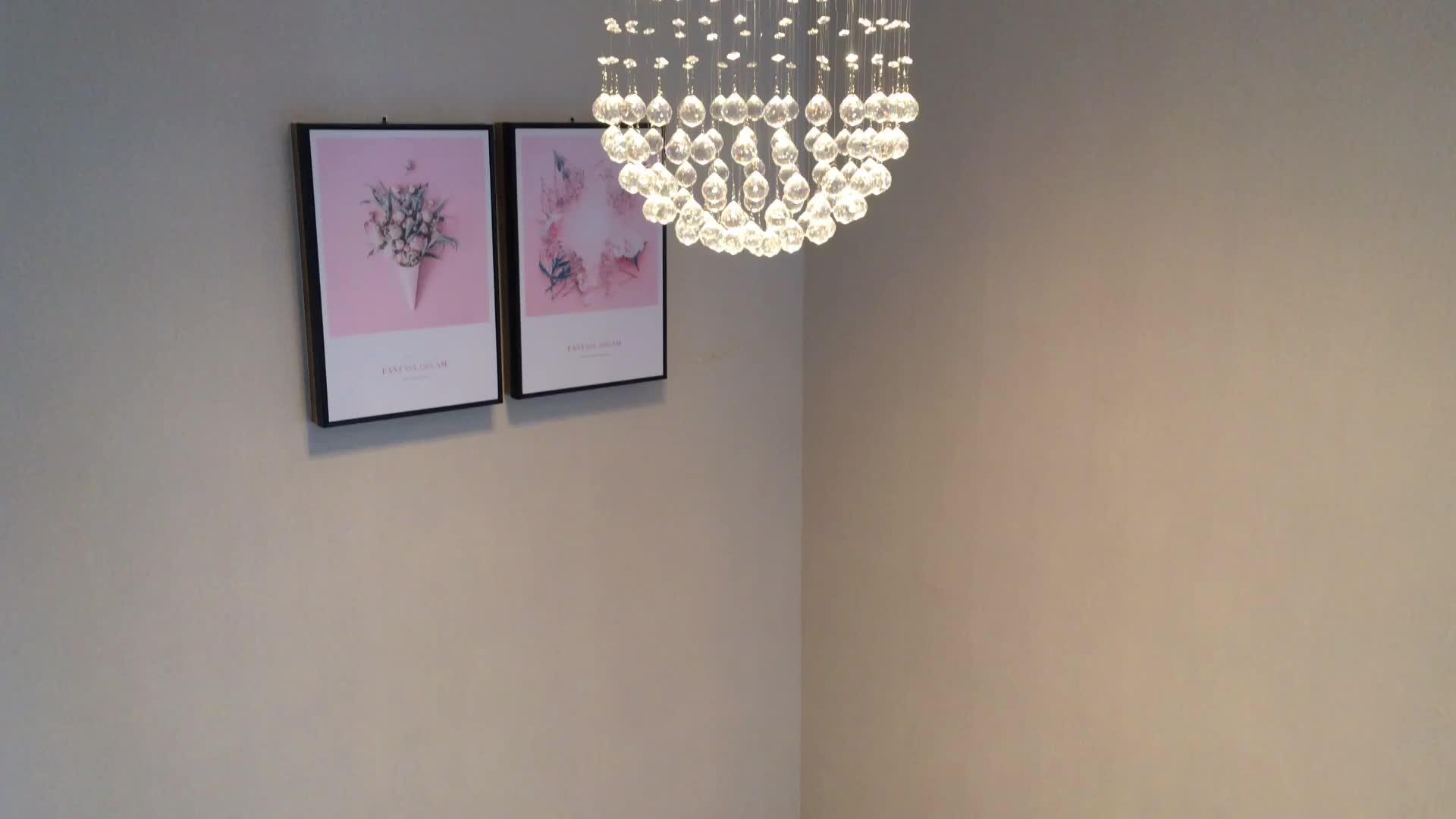 Modern Pencahayaan Gantung MP3 Musik Lamparas Warna Berubah Lampu Mini Kristal Pencahayaan Modern untuk Rumah Kamar Tidur Ruang Tamu