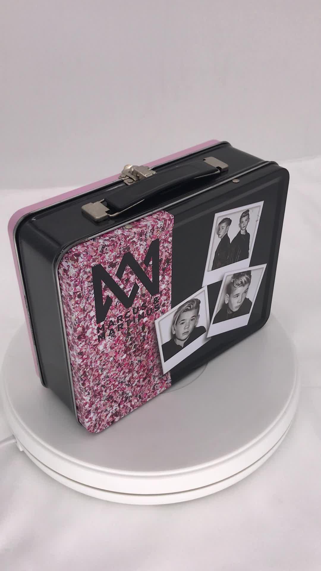 长方手挽午餐盒包装铁盒 铁皮盒 马口铁午餐盒铁盒 数据线包装盒