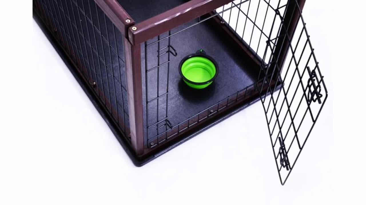Manufacturer wholesale stainless steel metal large small foldable cheap dog house pet cages, carriers