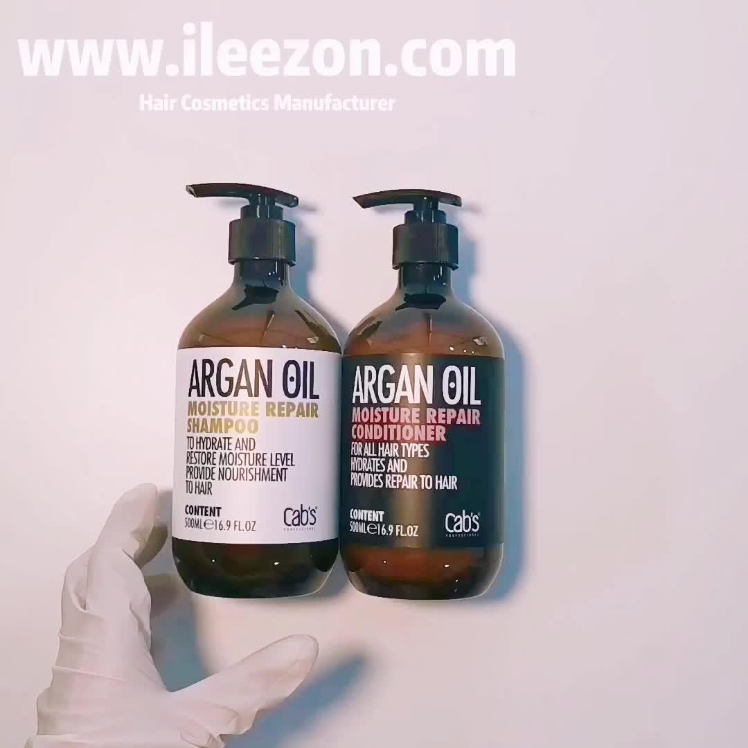 Arganolie Shampoo En Conditioner Set Voeden Vocht Beschadigd Haar Aangepaste Label Haarverzorgingsproducten