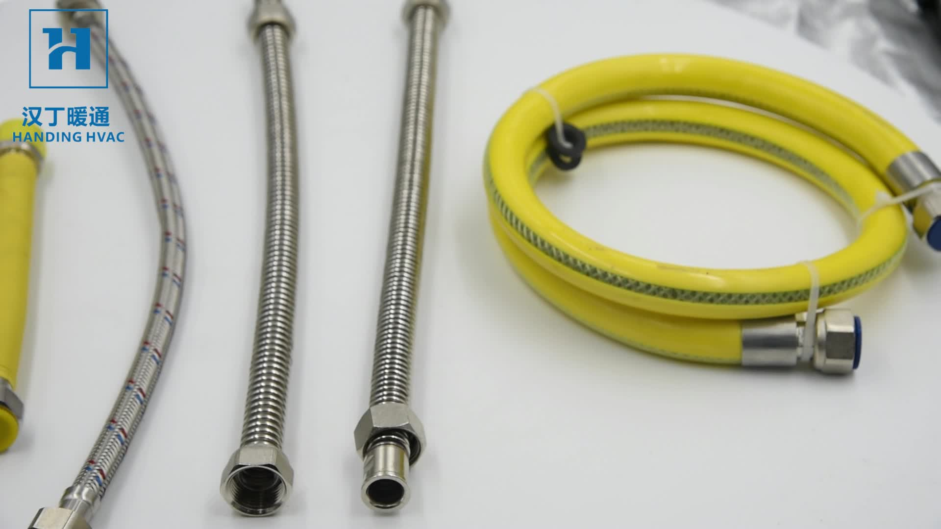 Paslanmaz çelik sarı oluklu esnek metalik hortum gaz ısıtma için