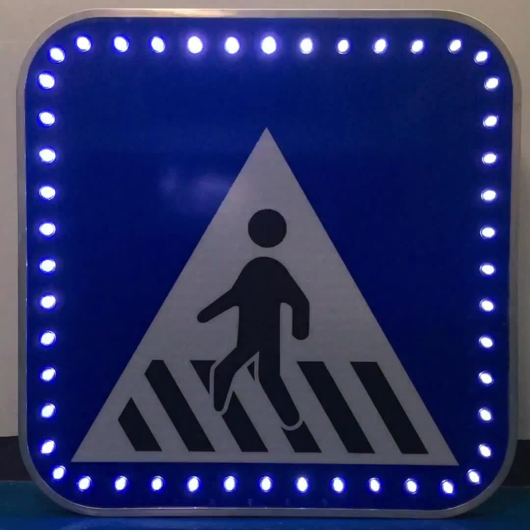 Hot Sale Aluminium Lalu Lintas LED Peringatan Jalan Sign LED Tanda Lalu Lintas