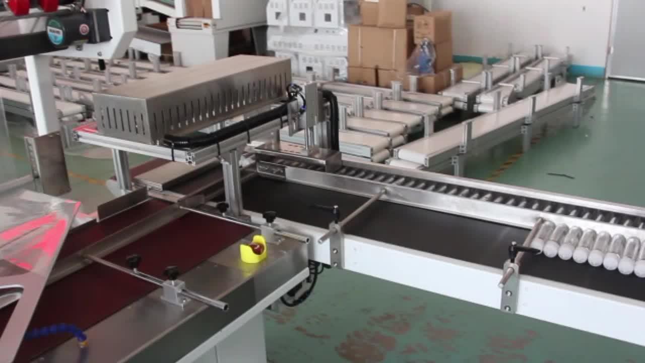 Automatische kontinuierliche schrumpffolienmaschine für karton, fach, flasche