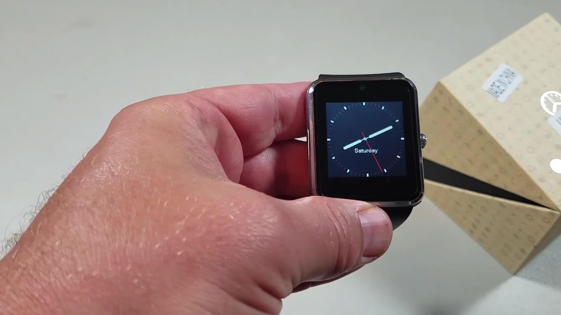 Sport smart horloge en waterdicht ce rohs wrist smart horloge voor kids GT08 Screen touch