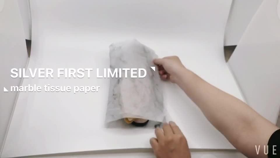 Papel de embrulho de tecido de mármore impresso personalizado por grosso
