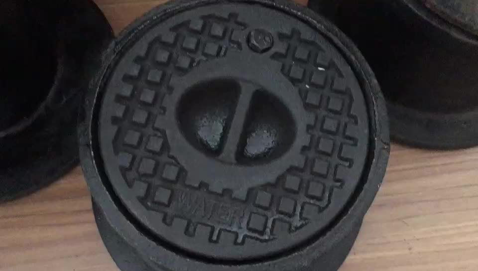 Cast Iron/Grey Iron/Ductile Iron Round or Square Surface Box for Fire Hydrant or Water Meter