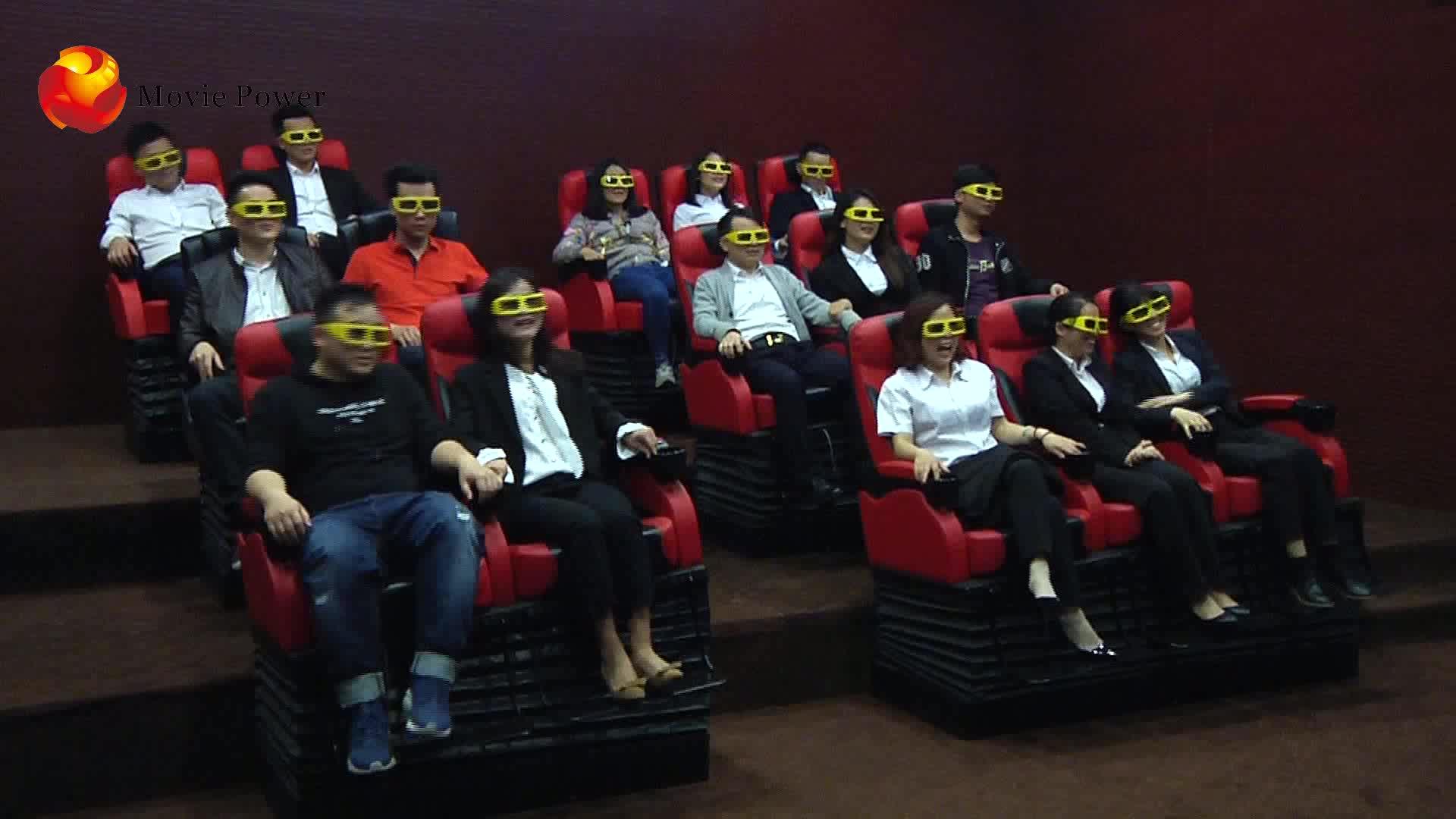 โรงงานราคาสวนสนุกการเคลื่อนไหว 5D โรงละครจำลอง 7D 15 Cinema ที่นั่งอุปกรณ์ราคาขาย