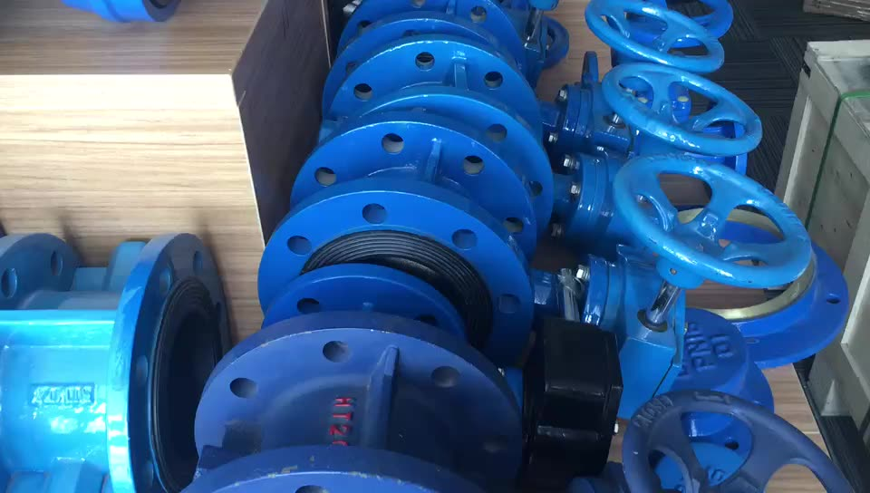 Flanged End EPDM Lined Industrial Control Double Flange Butterfly Valve