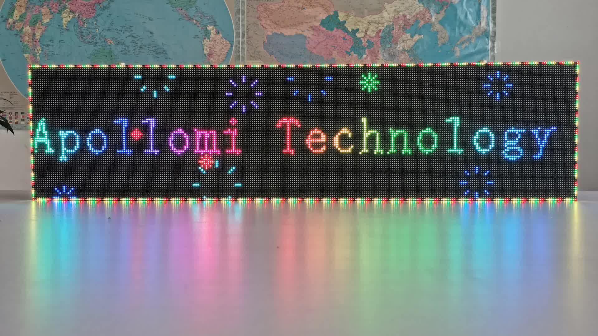 Outdoor led digitale zeichen bord wasserdichte outdoor P4 volle farbe streifen led-bildschirm
