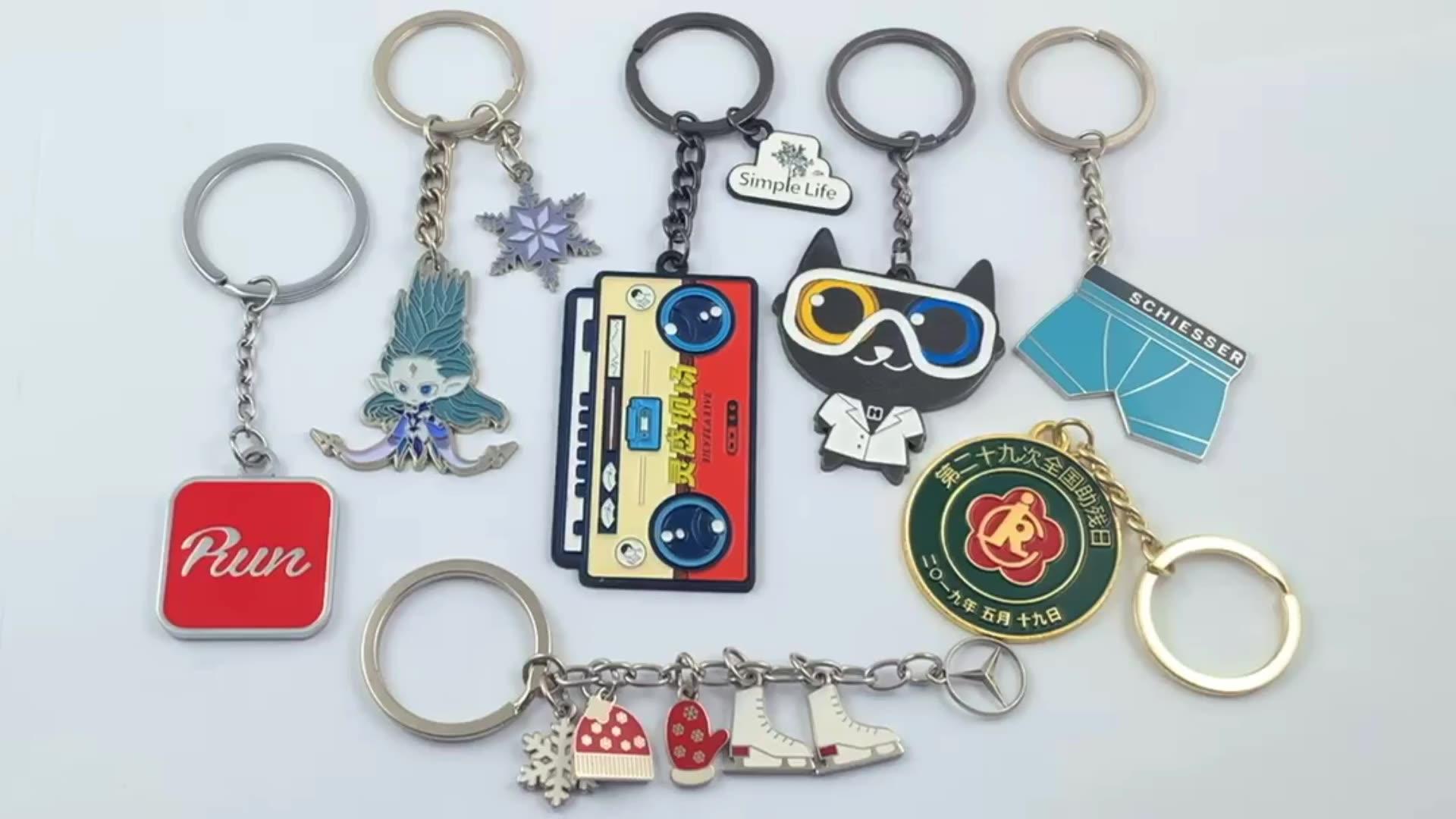 Custom metal cheap keychain promotion photo printed keychain wholesale keychain