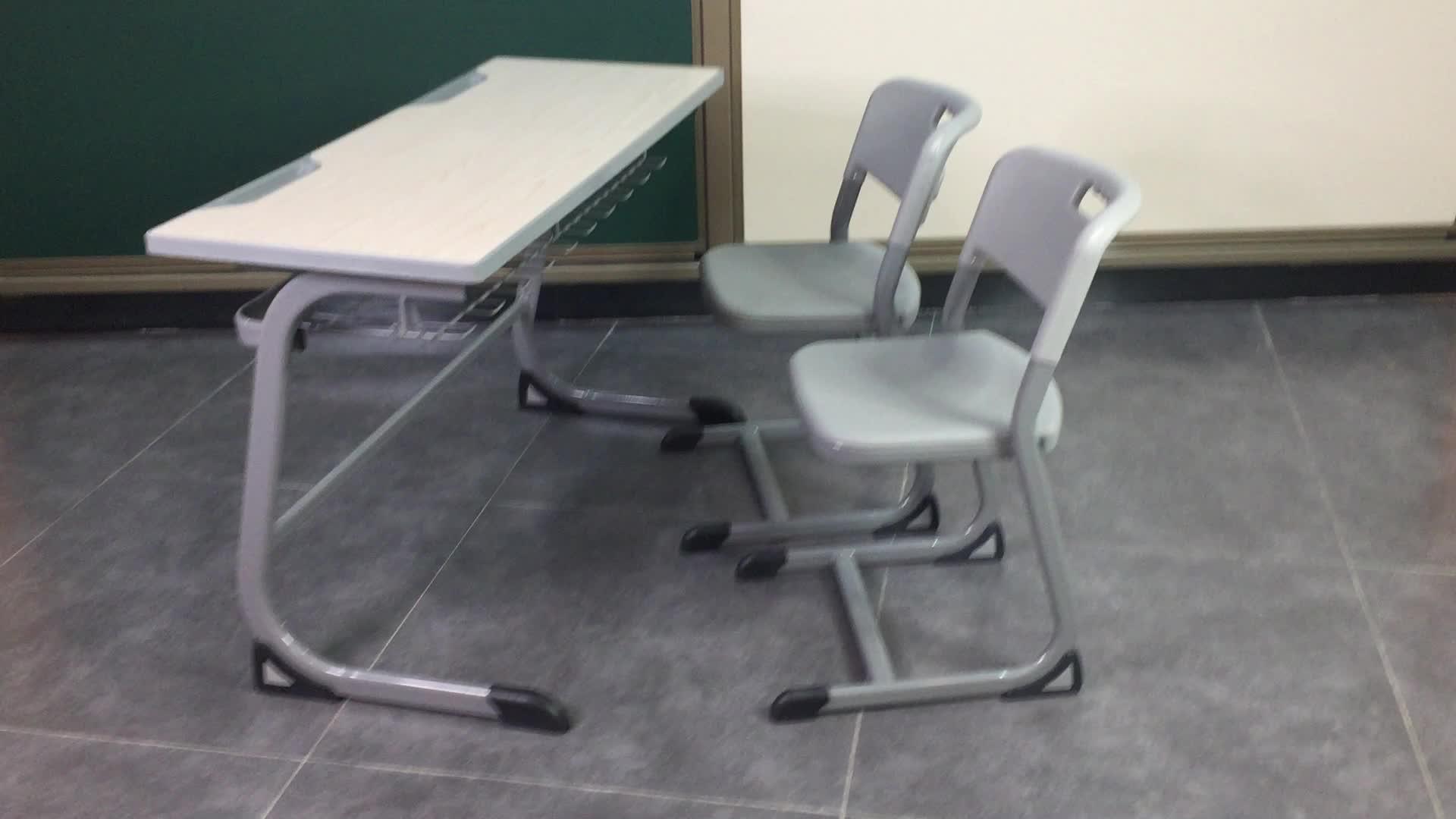 Ergonomische School Meubels Student Bureaustoel Set voor 2 Persoon