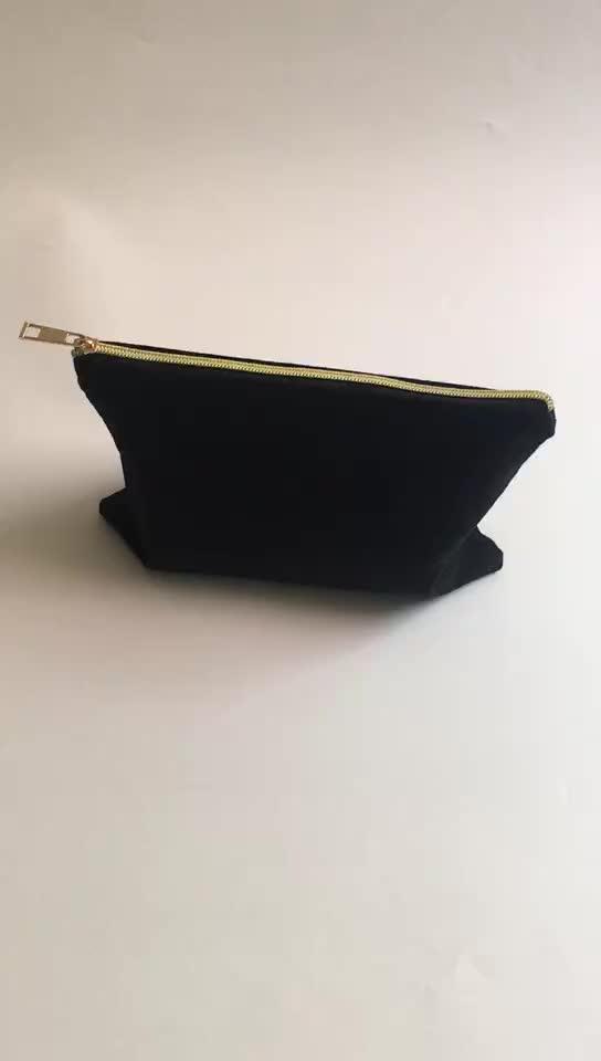 थोक 100% कपास मेकअप यात्रा बैग कॉस्मेटिक पाउच बैग मेकअप कॉस्मेटिक बैग के साथ कस्टम लोगो