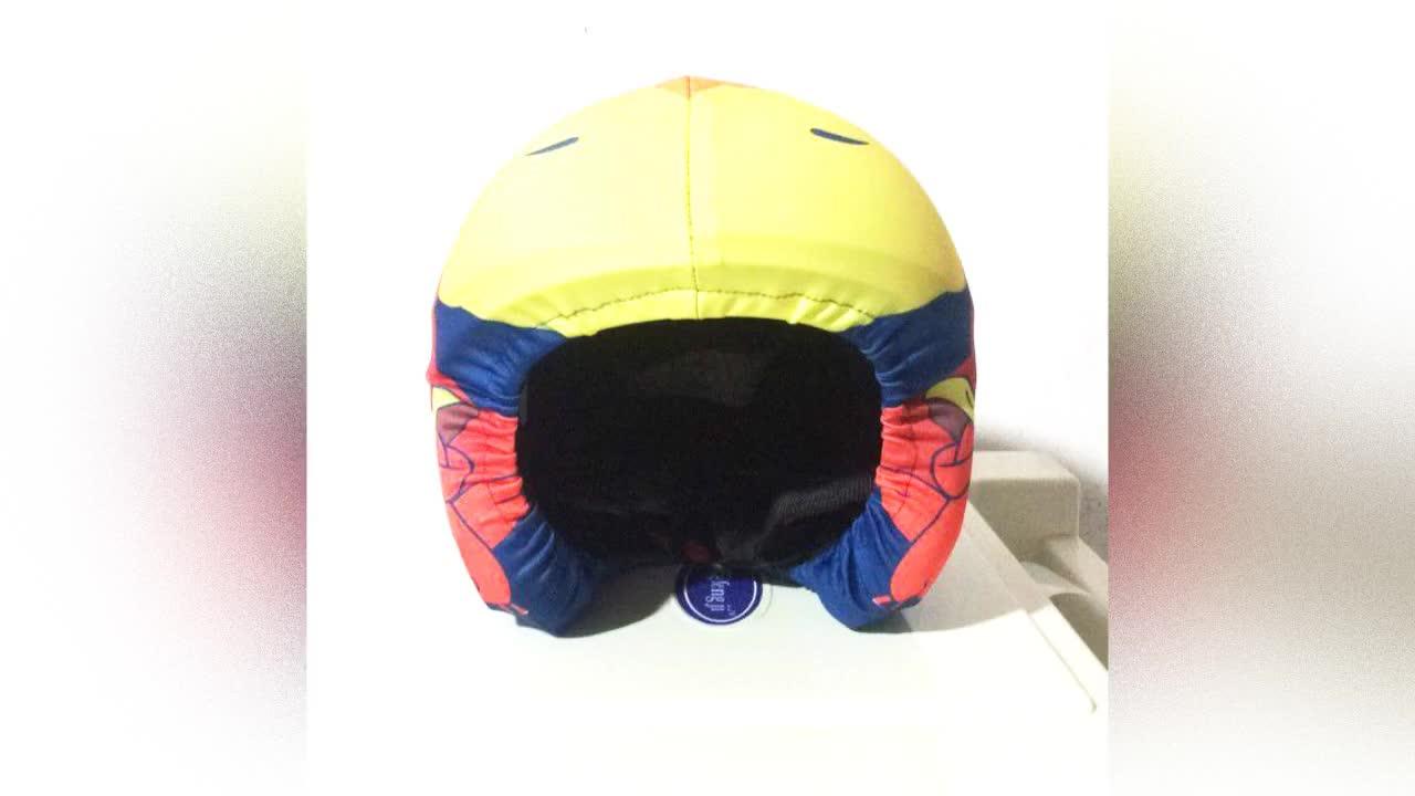 Nueva moda de tela elástica de alta calidad deporte de invierno de seguridad camuflaje casco de esquí de