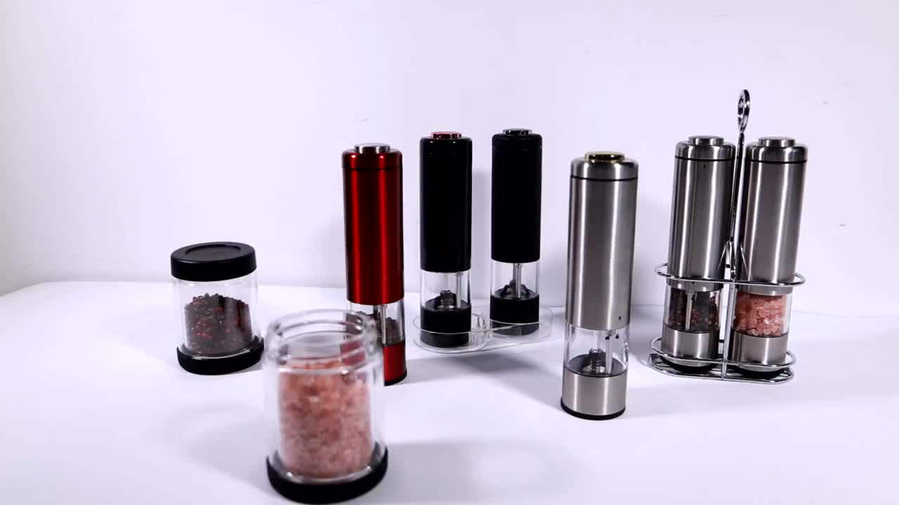 Electric Salt & Pepper Grinder/ New Design Stainless steel Salt & Pepper Mill