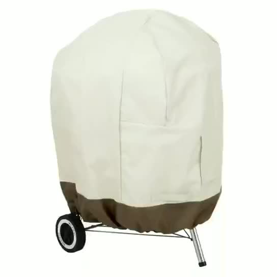 round bbq grill cover outdoor waterproof with weather-resistant heavy duty fabric