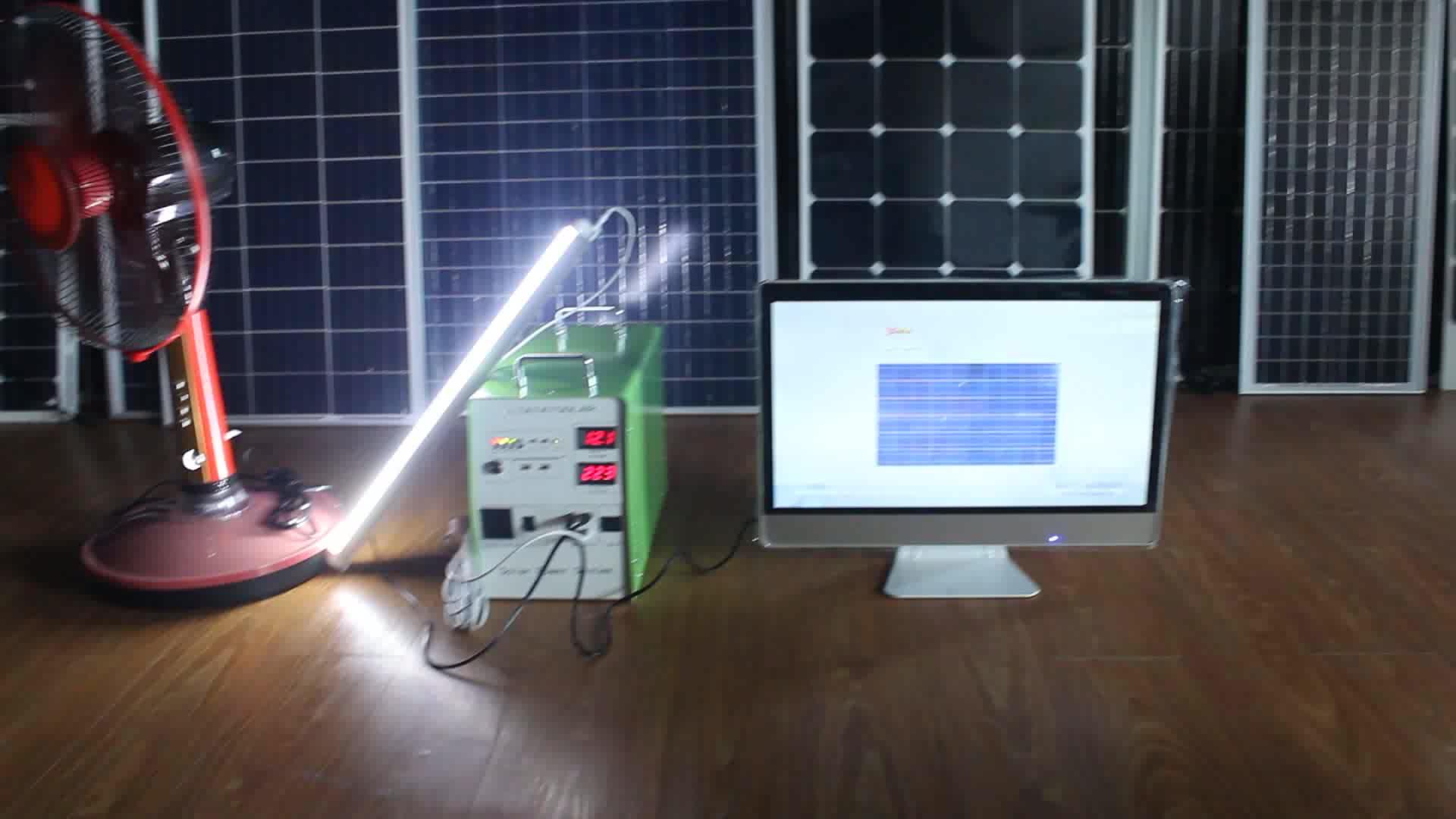 2017 مصغرة مولد 300 واط الشمسية المحمولة نظام الطاقة الشمسية