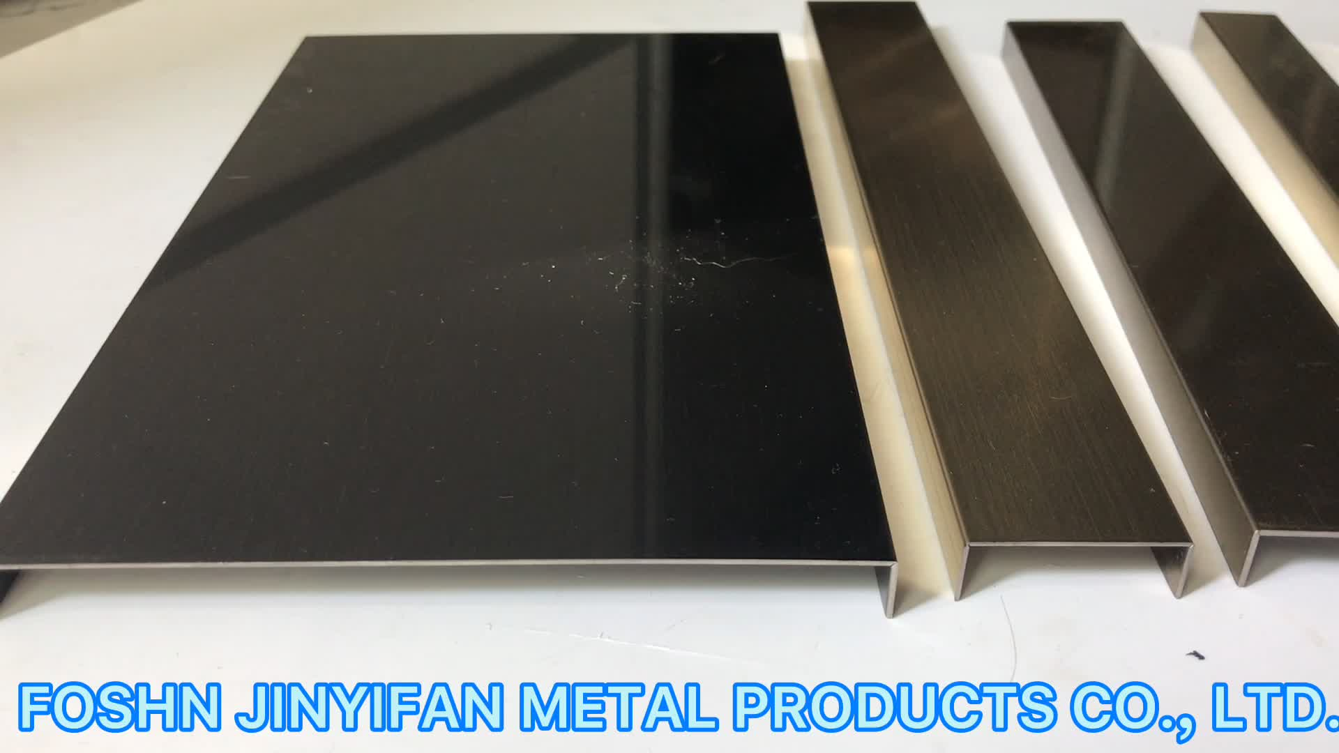 jyf10020 China Custom Product Metal Stamping Brushed Stainless Steel Tile Trim For Hotel Wall Panel