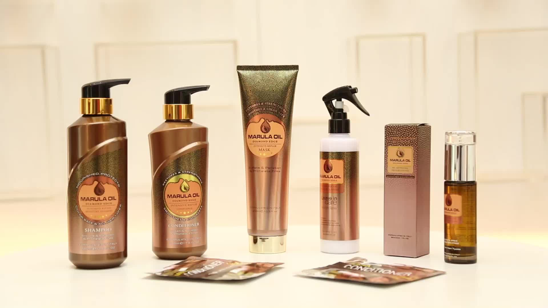 wholesale heat protection spray marula oil volume renewal keratin smooth thermal  hair spray for wigs and detangle