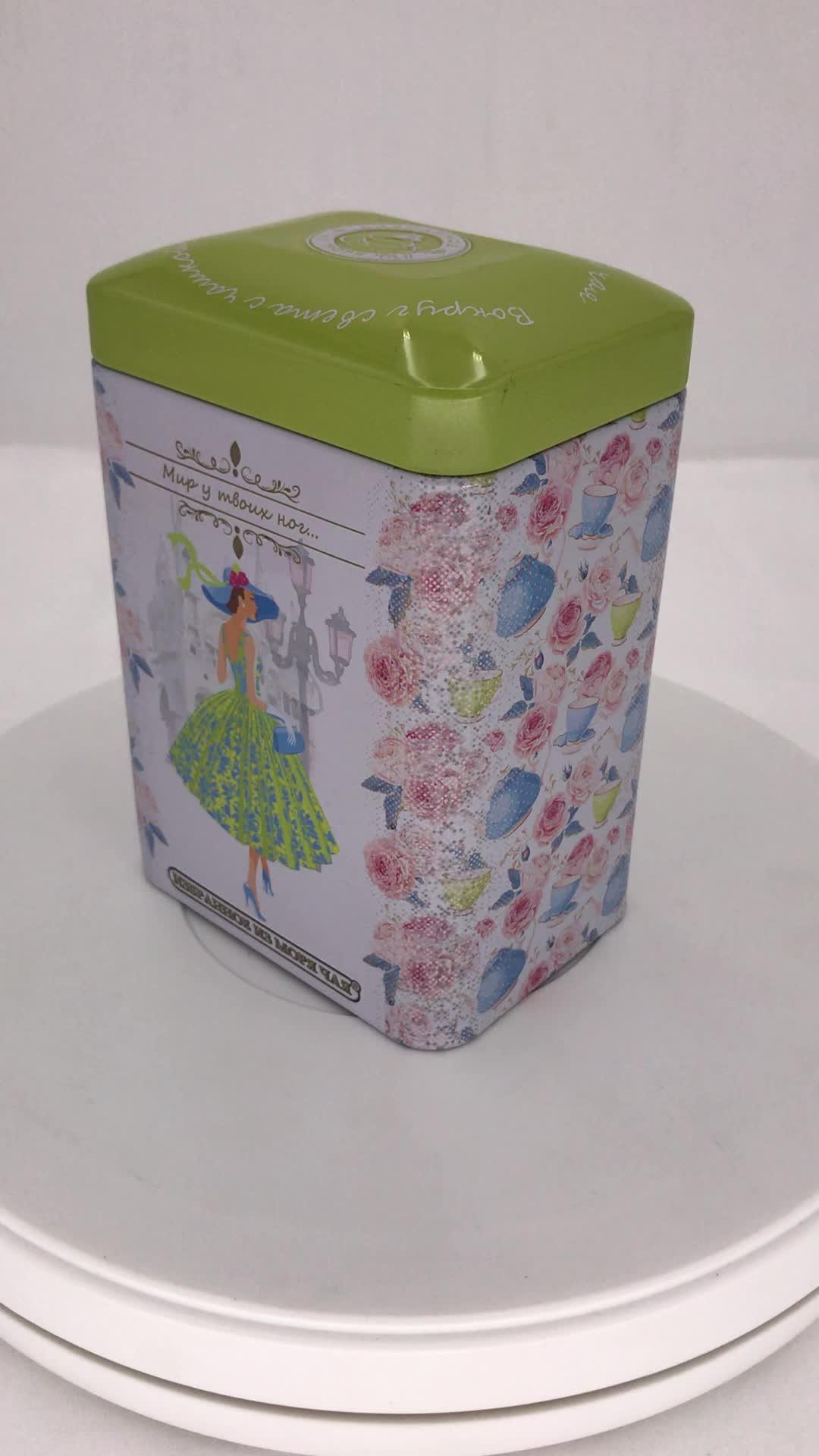 长方形拱盖茶叶铁罐定做 茶叶马口铁罐工厂 花茶马口铁盒制罐厂