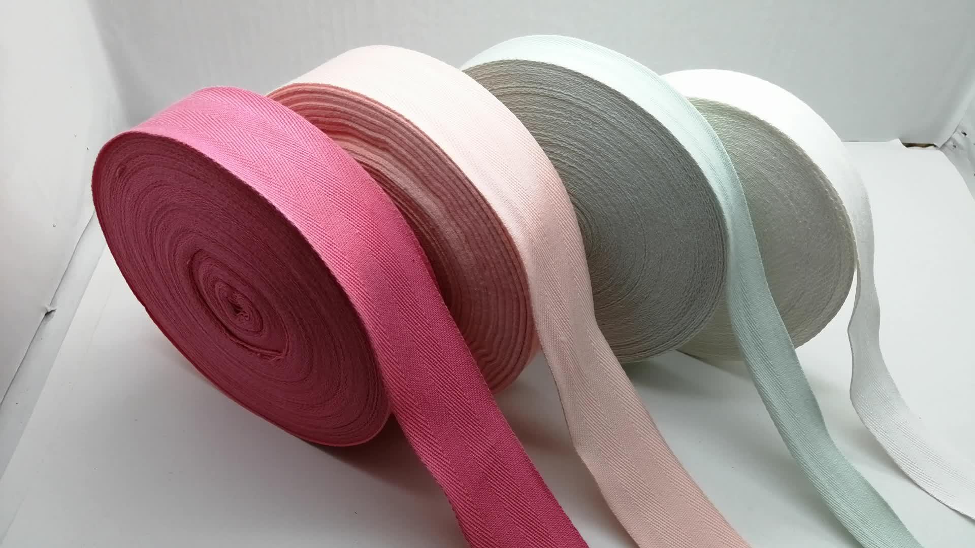 herringbone pattern thin cotton binding tape for garment