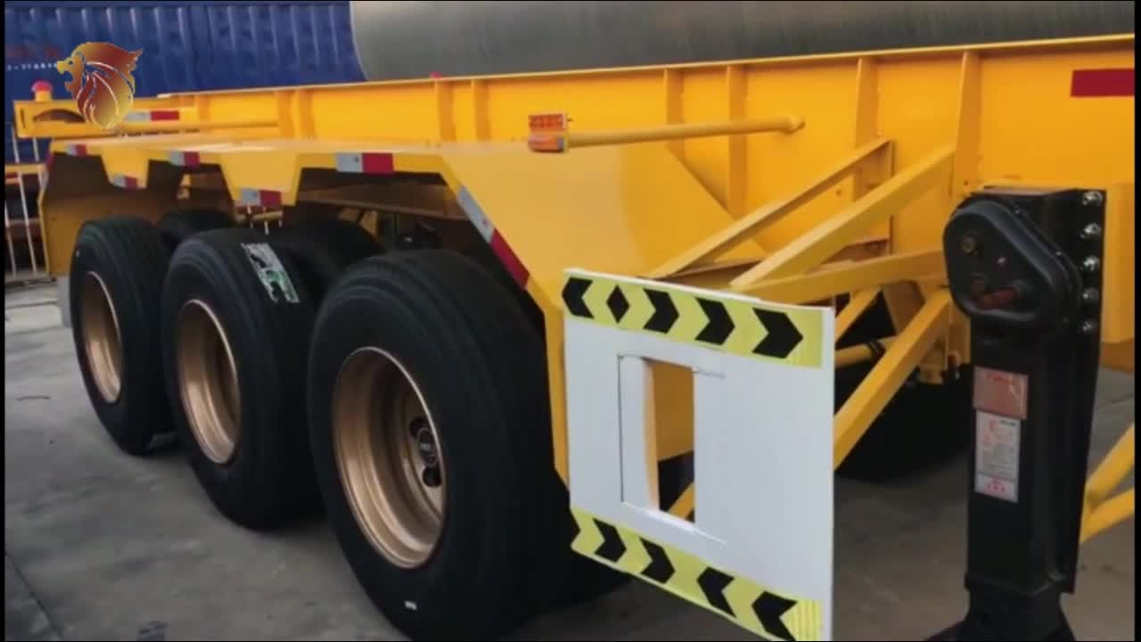 2 3 trục 20ft 40ft skeleton Container Chassis xe tải Trailer Bán