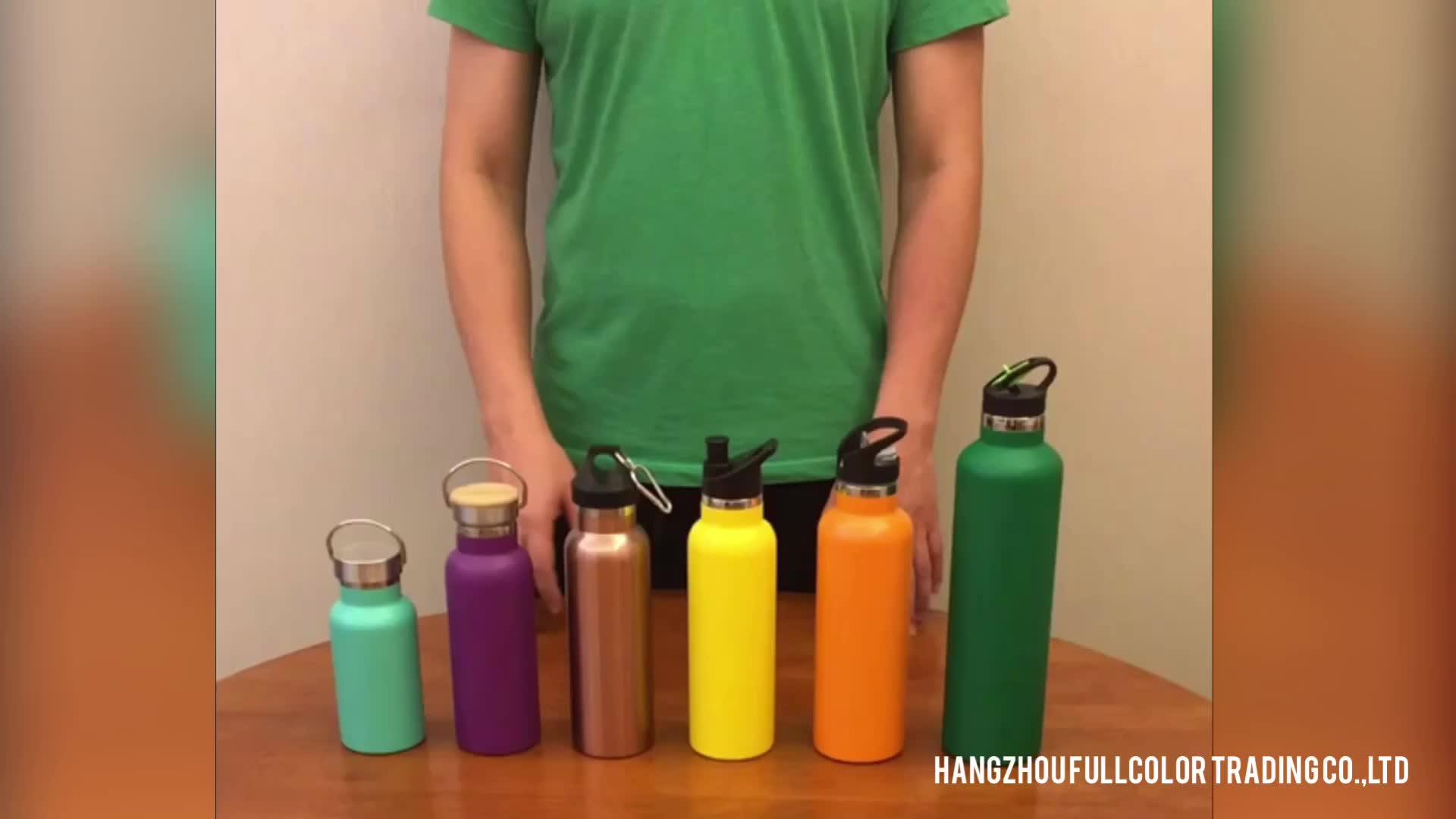 BPA FREI 500 ml 700 ml edelstahl sport gym wasser flasche flip up deckel mit stroh einfach trinken