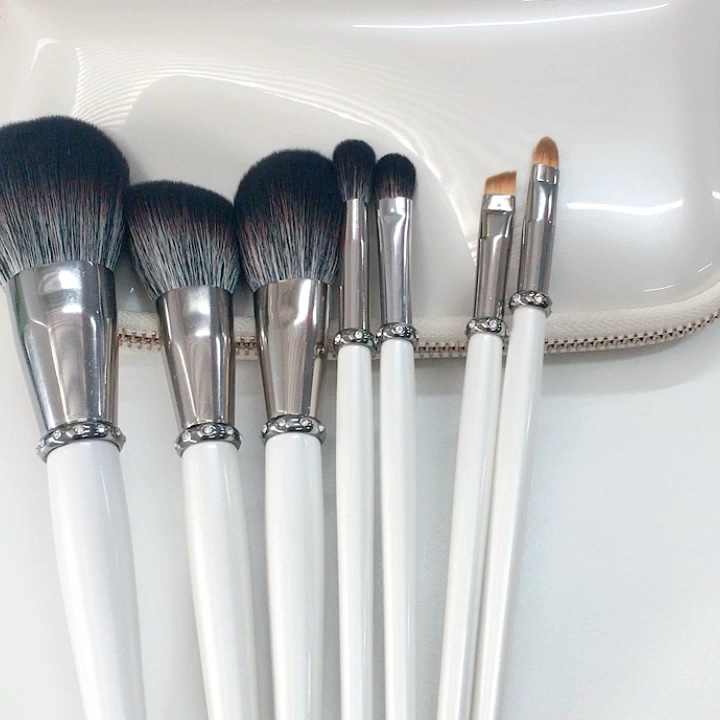 diamond-inlaid makeup brushes set for gift 7 high-end makeup brush series soft fiber hair