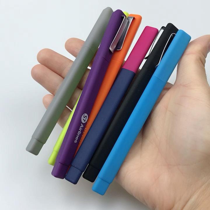 Russische pen drie rand rubber coated driehoek vorm Hotel Plastic Bal Pen