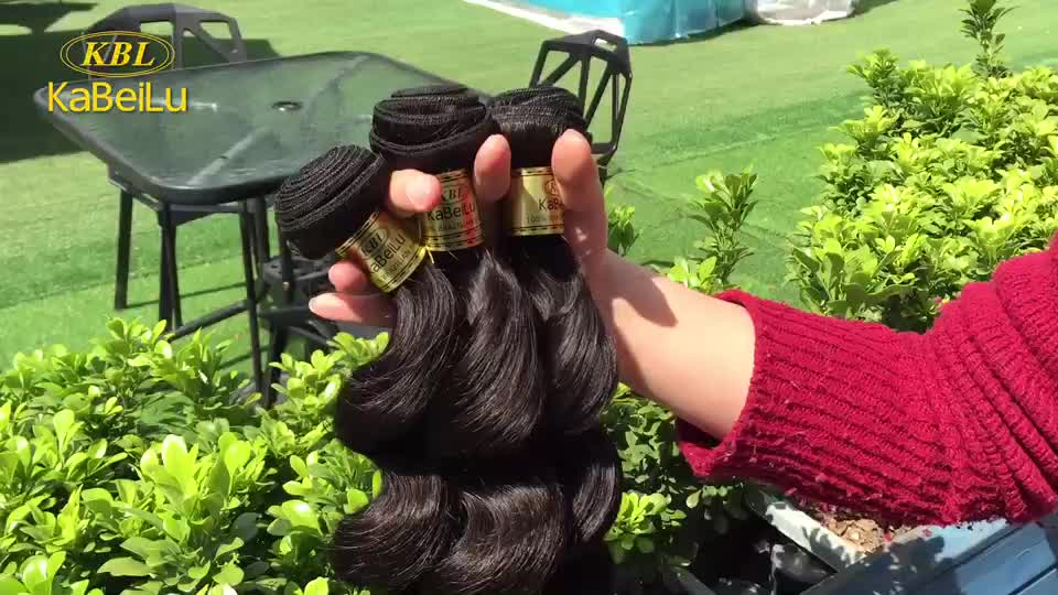KBL 10 inch brazilian loose/deep body wave hair weaving,gray hair weave,human hair buy bulk hair weave brazilian human
