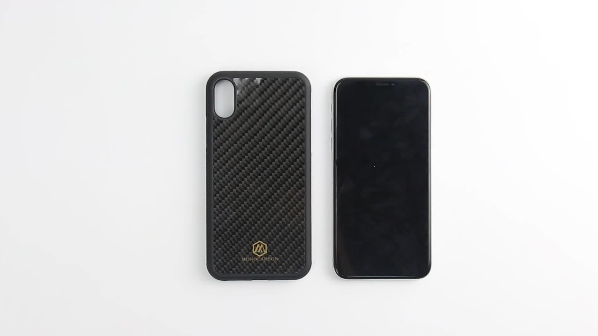 Commercio all'ingrosso Di Lusso Anti Skid per il Caso di iphone XS Max In Fibra di Carbonio Della Copertura Del Telefono Mobile