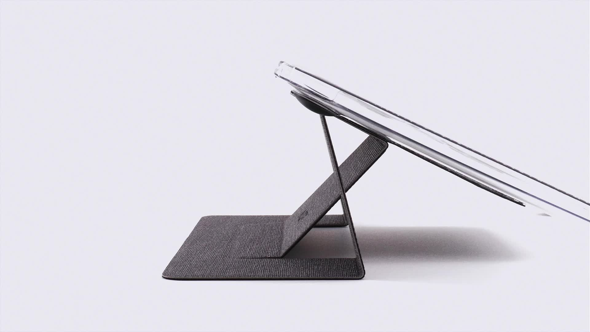MOFT Invisible Laptop Stand with Patent World's First Adhesive Portable and Fold-able Desk for Macbook Light Laptop Table