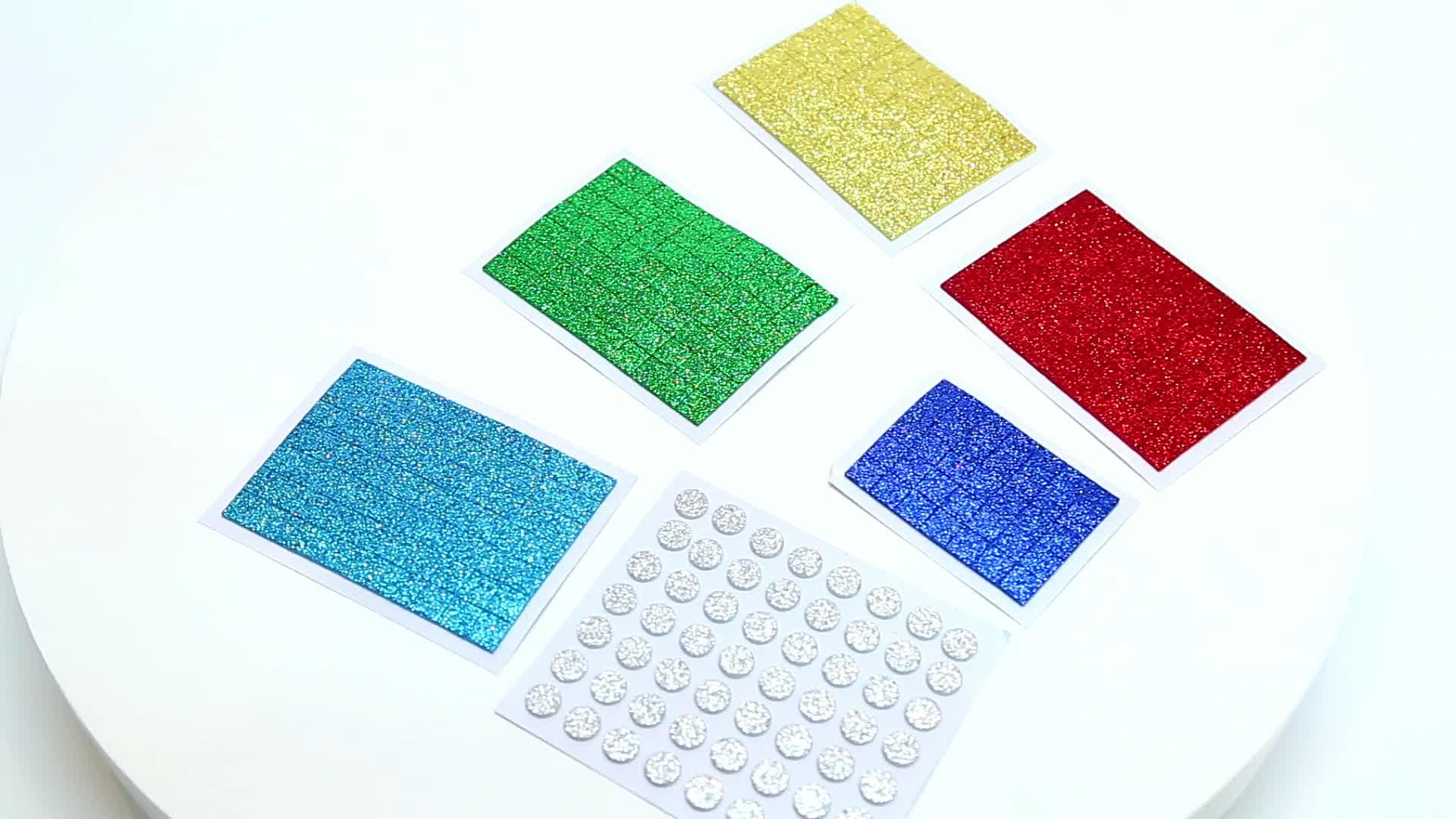 Espuma biodegradável Personalizado 1 milímetros 1.5 milímetros 3mm Materiais Espuma Esponja Autoadesivo Glitter Folha de Espuma EVA