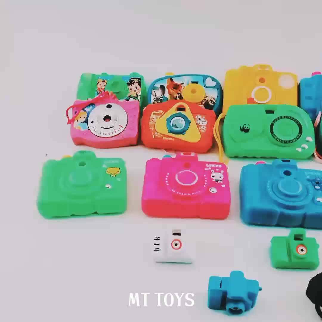 Children cartoon cute projection mini plastic toy camera with key chain