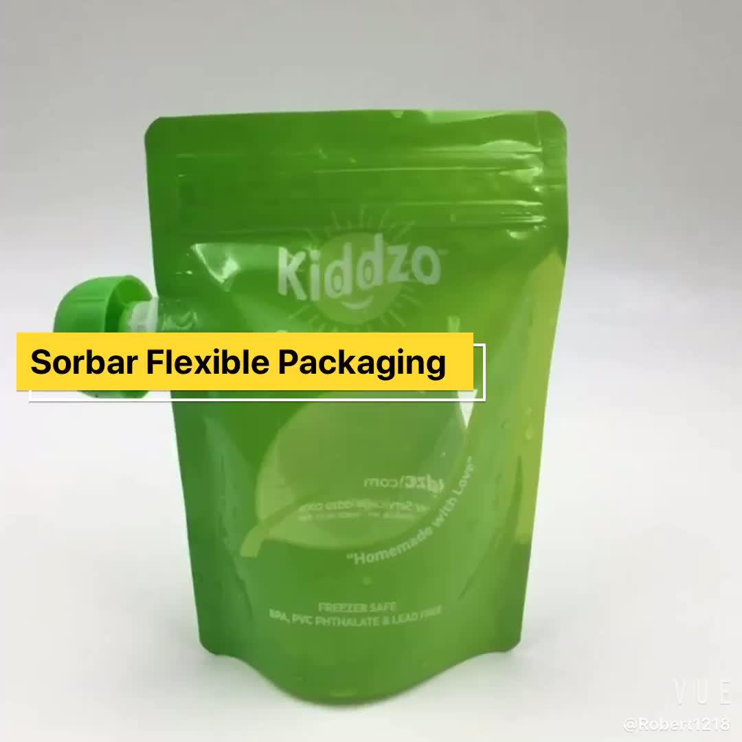 Мягкий напиток сжимает реторт детское питание жидкий носик напиток мешок упаковка