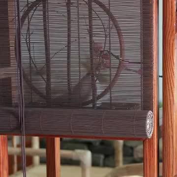 Оптовая продажа бамбуковых жалюзи Заводские индивидуальные наружные тени бамбуковые подъемные затвор римские занавески окна ролик в китайском стиле