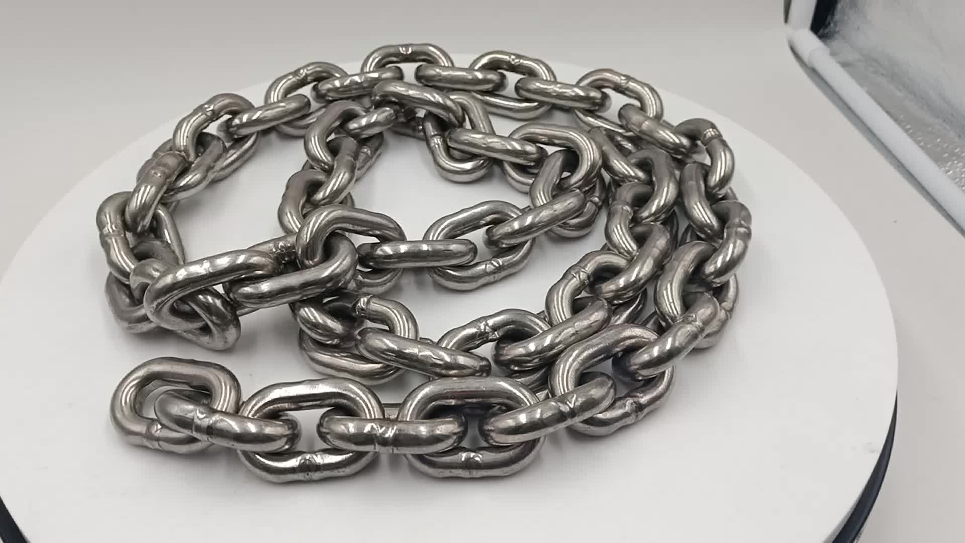 Marine 316 stainless steel mirror polished boat anchor chain
