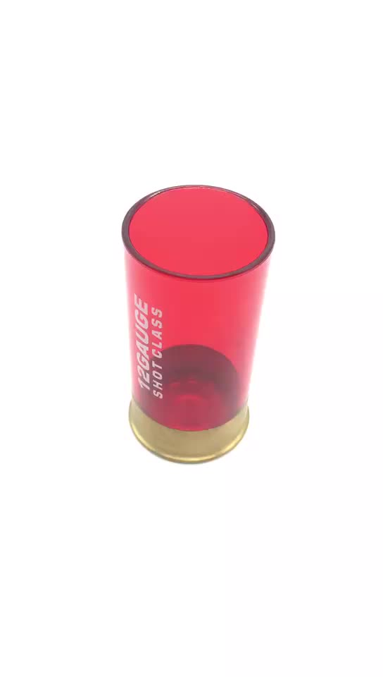 12 Gauge Plastic Shot Glass Red For Party (Pack Of 4) with food grade smell proof bags