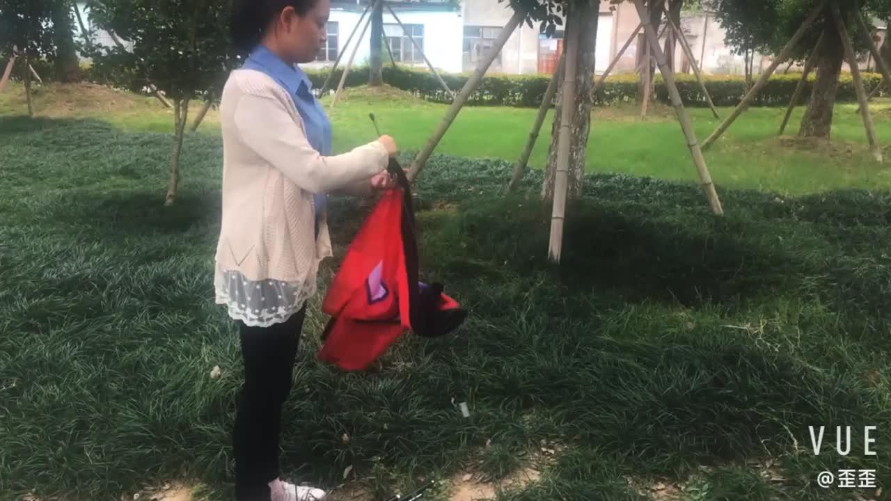 Komple Swooper Bayrak Kiti 12'-Içerir Tüy Iş 15-foot Anodize Alüminyum Direği ve Toprak Başak ile Bayrak