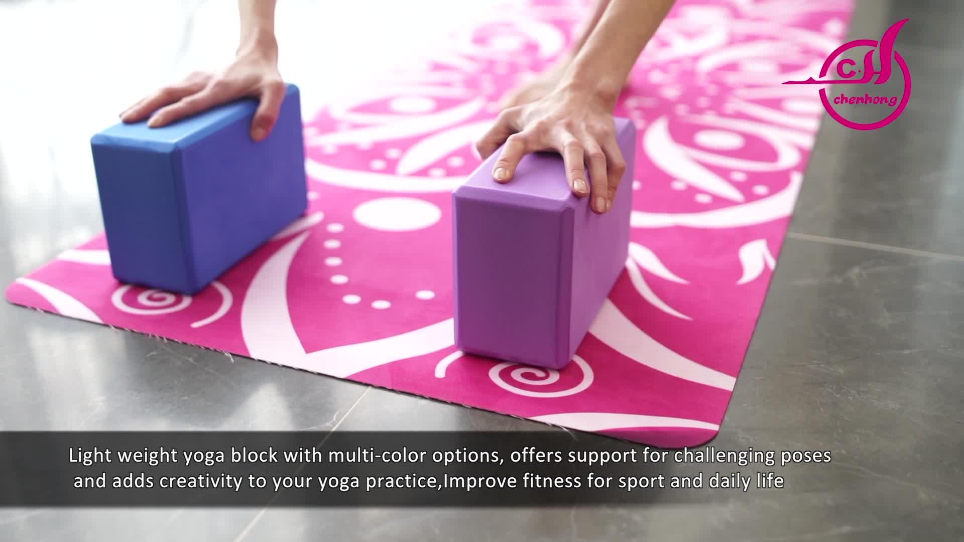 Pelatihan fungsional Kepadatan Tinggi busa eva tidak beracun Lembut yoga blok