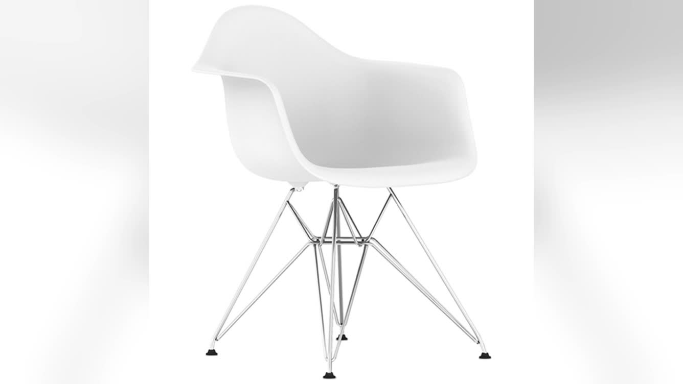 High quality modern color plastic restaurant cafe chair with arms