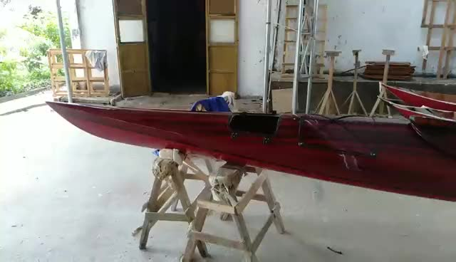 Kayak Dark Painted with Red bottom - Vietnam High Quality Wooden Real Kayak