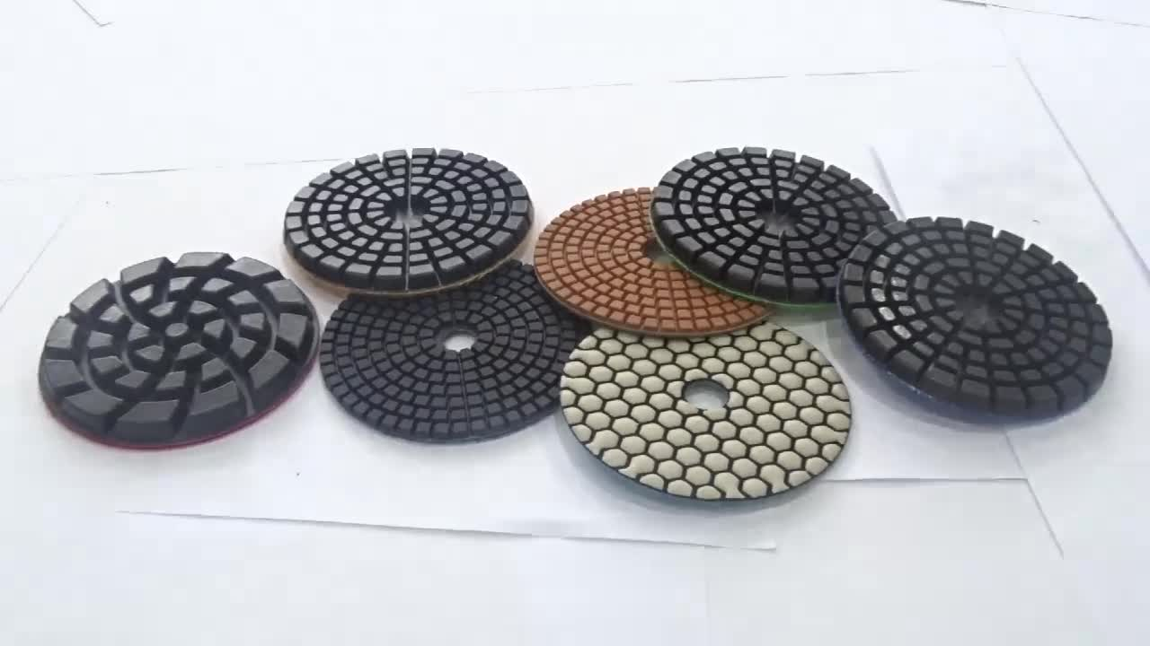 4inch 100mm 3 step wet diamond polishing pad for polish marble