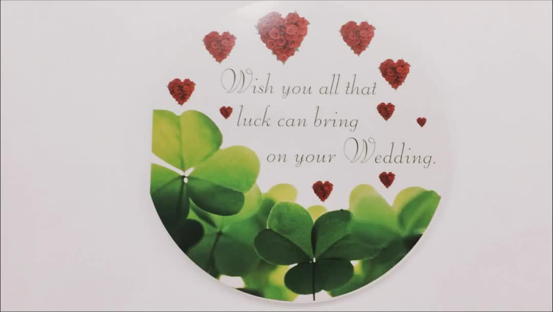 Popular Style Wedding Blessing Disc Music Card with Beautiful Printing