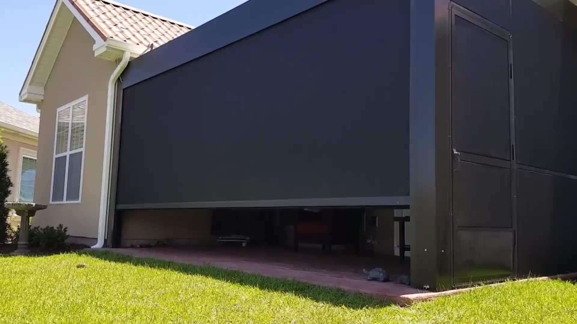 Motorizzato in metallo all'aperto gazebo impermeabile del tetto persiana in alluminio pergola kit 4x3