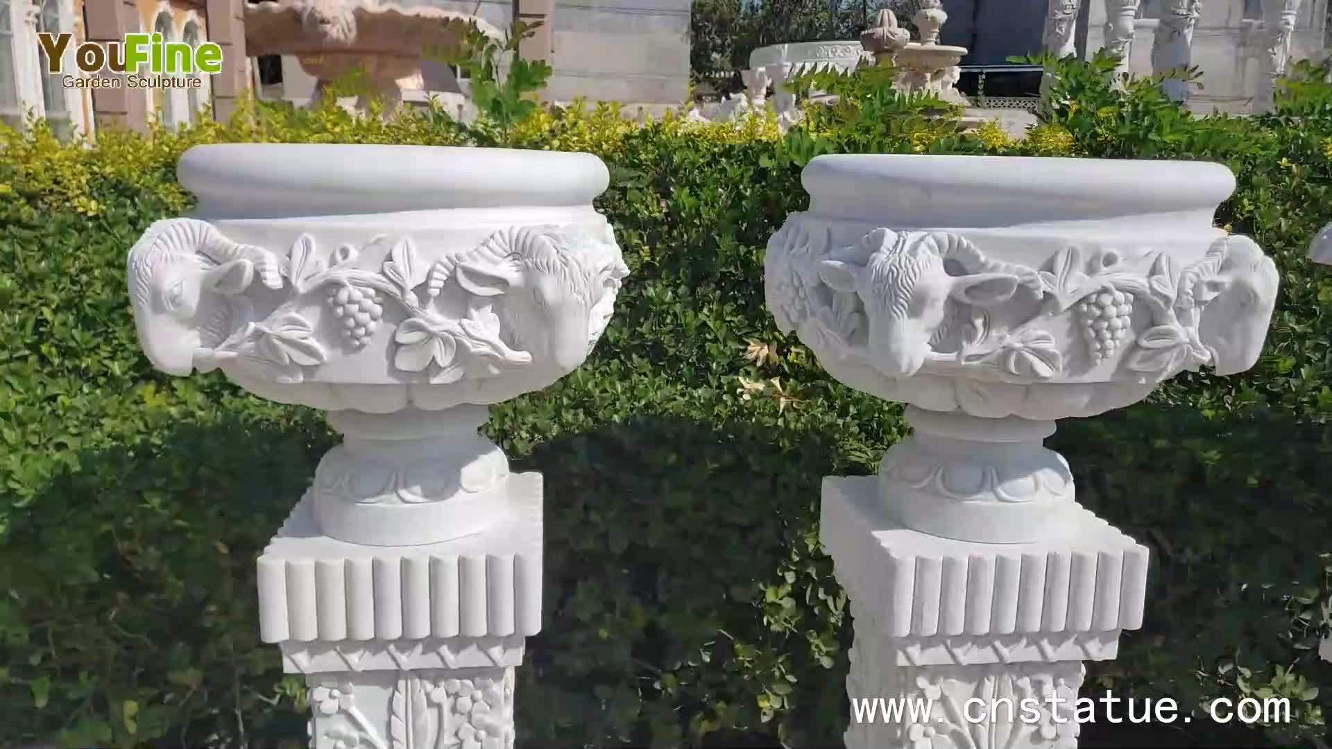 Large Size Garden Marble Planter Pot for Sale