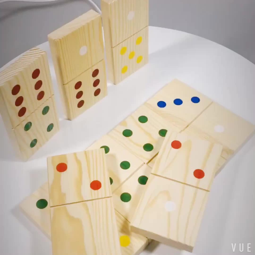 Education toy wooden domino set