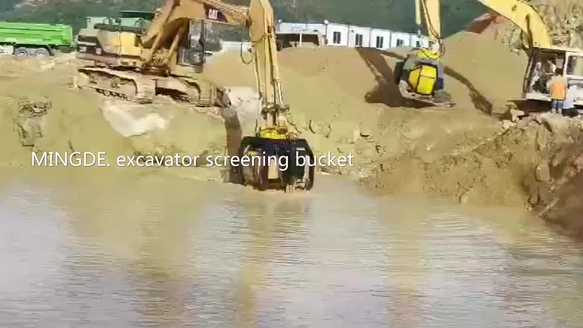 Rotating  screening bucket for 25-36 ton excavator /wheel loader